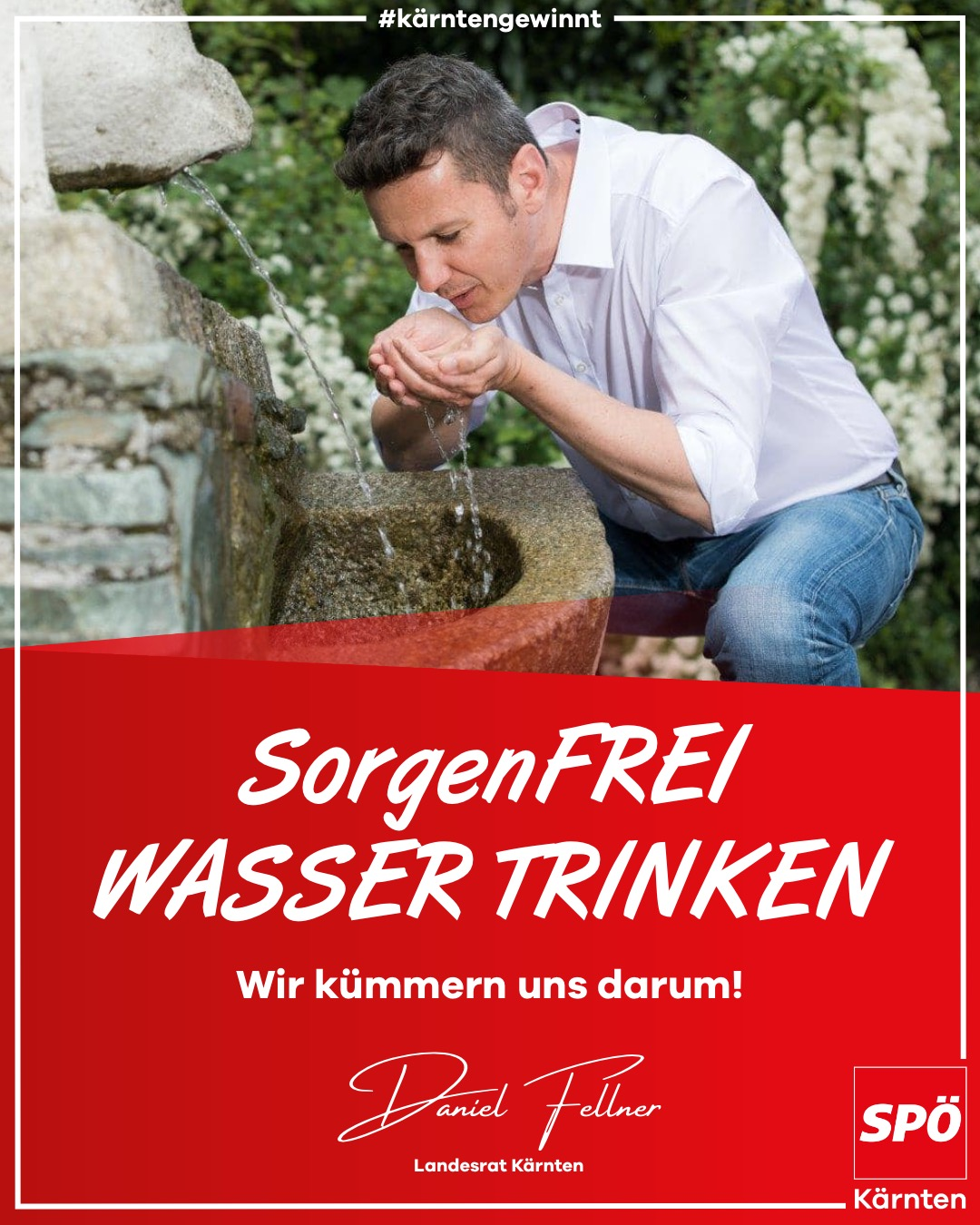 Sorgenfrei Wasser trinken - Daniel Fellner